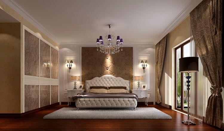 卧室图片来自北京高度国际装饰设计在中铁花语城190平欧式公寓的分享