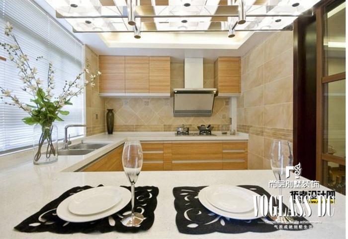 别墅 新中式 白领 厨房 厨房图片来自北京别墅装修案例在不一样的新中式的分享