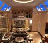 客厅二层挑空:拱形吊顶不仅设计美观而且可以在扩大空间。