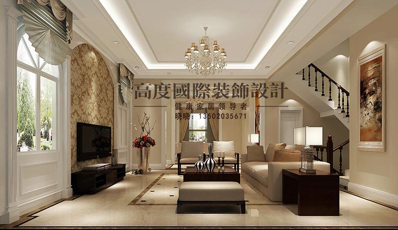 简欧 别墅 商业精英 客厅图片来自大小姐在中惠团泊湾的分享