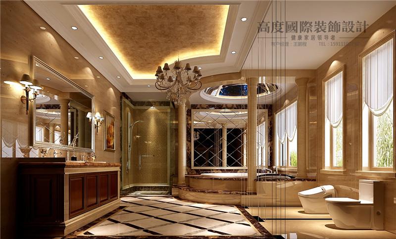 美式 美观 别墅漂亮 豪华档次 温馨舒适 玄关图片来自北京高度装饰设计王鹏程在500平米美式风格独栋别墅的分享