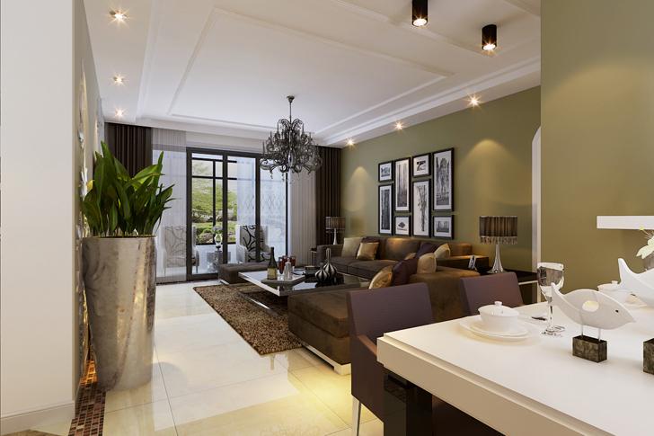 简约 三居 客厅图片来自业之峰太原分公司在简约绿地世纪城的分享