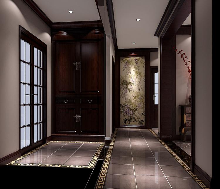 玄关图片来自北京高度国际装饰设计在中景江山赋新中式公寓的分享