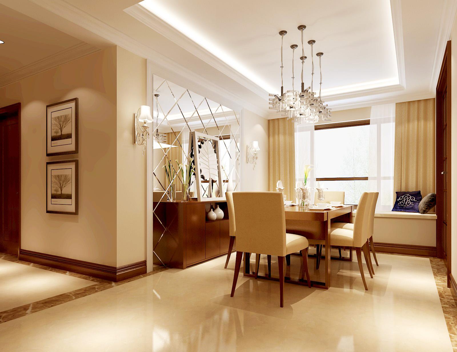 香悦四季 高度国际 欧式 简约 别墅 公寓 平层 白领 小资 餐厅图片来自北京高度国际装饰设计在香悦四季简欧风格平层公寓的分享