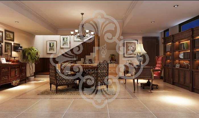欧式 别墅 客厅 白领 卧室 餐厅 客厅图片来自北京别墅装修案例在诸子阶简欧风格优雅展示的分享