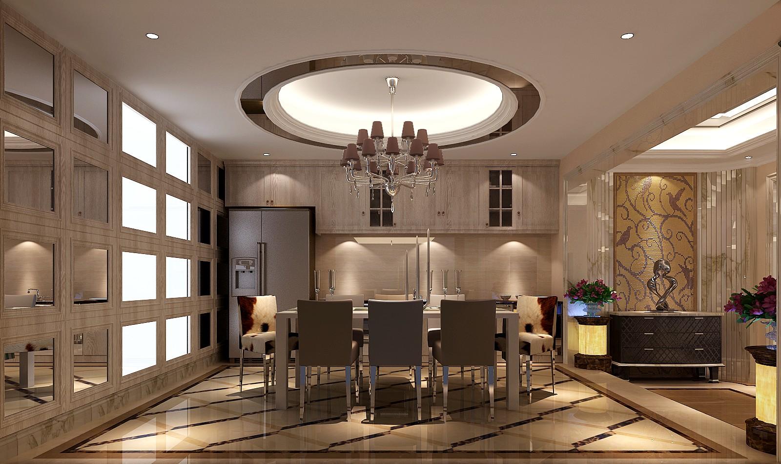 领秀新硅谷 高度国际 简约 欧式 别墅 白领 80后 小资 餐厅图片来自北京高度国际装饰设计在领秀新硅谷380平简欧独栋别墅的分享