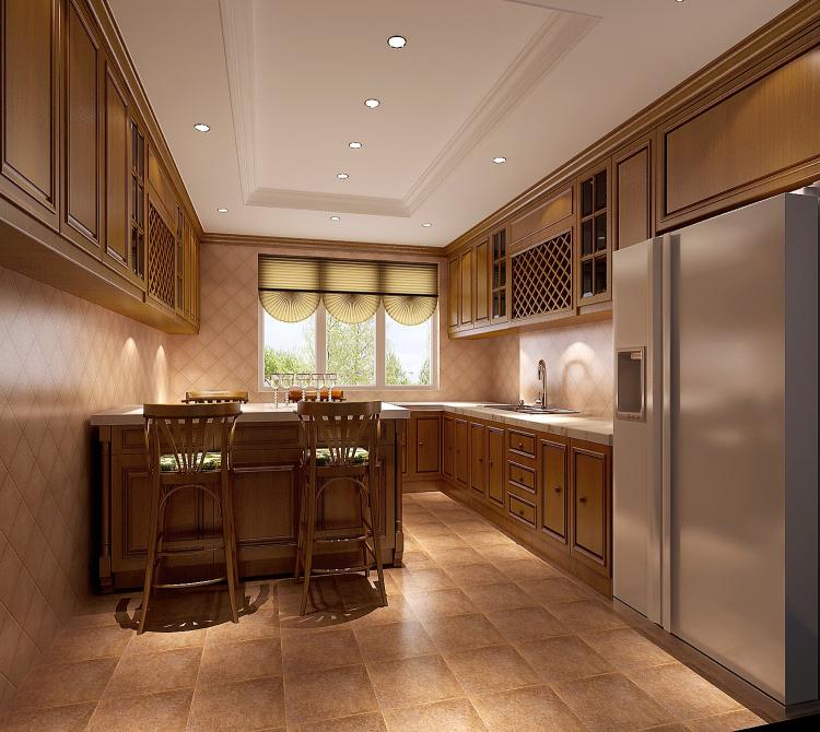 厨房图片来自北京高度国际装饰设计在中铁花语城190平欧式公寓的分享