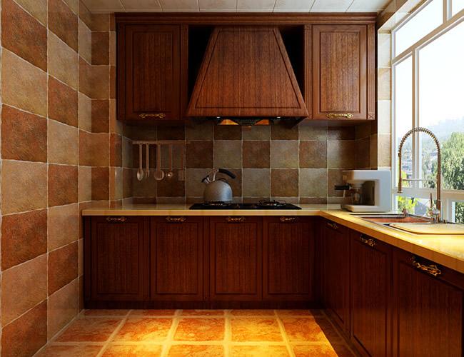 美式 二居 厨房图片来自北京世家装饰工程有限公司在盛和世纪美式的分享