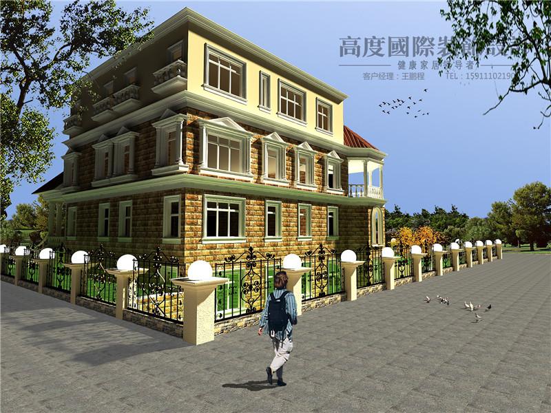 美式 美观 别墅漂亮 豪华档次 温馨舒适 户型图图片来自北京高度装饰设计王鹏程在500平米美式风格独栋别墅的分享