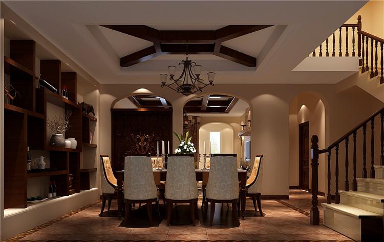 红杉溪谷 托斯卡纳 高度国际 欧式 别墅 三居 80后 小资 白领 餐厅图片来自北京高度国际装饰设计在红杉溪谷300平托斯卡纳别墅的分享