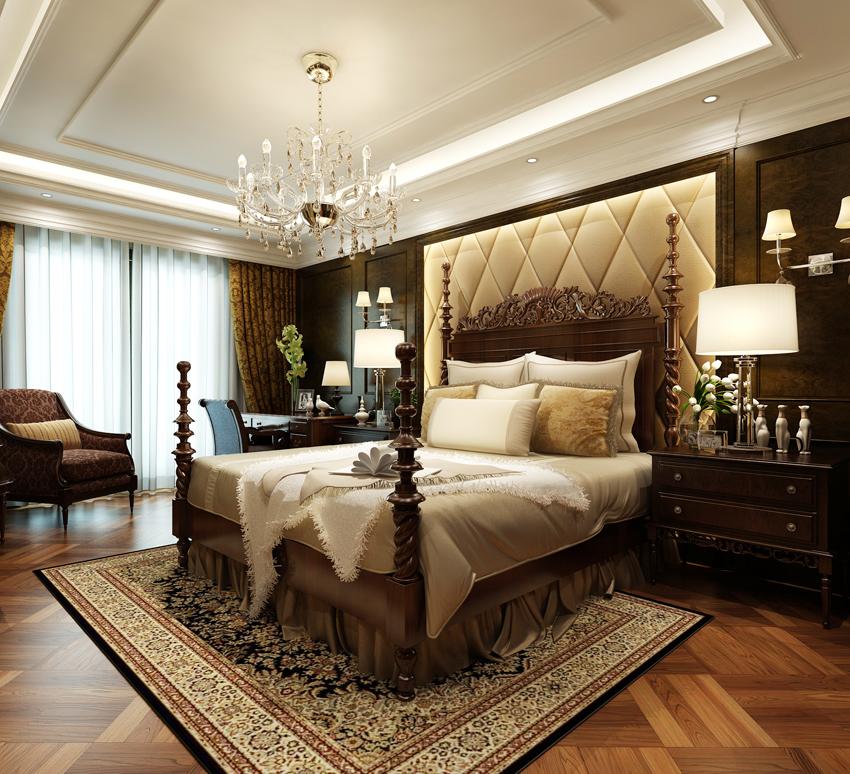 欧式 卧室图片来自郑州东易日盛装饰在郑州绿城百合220的分享