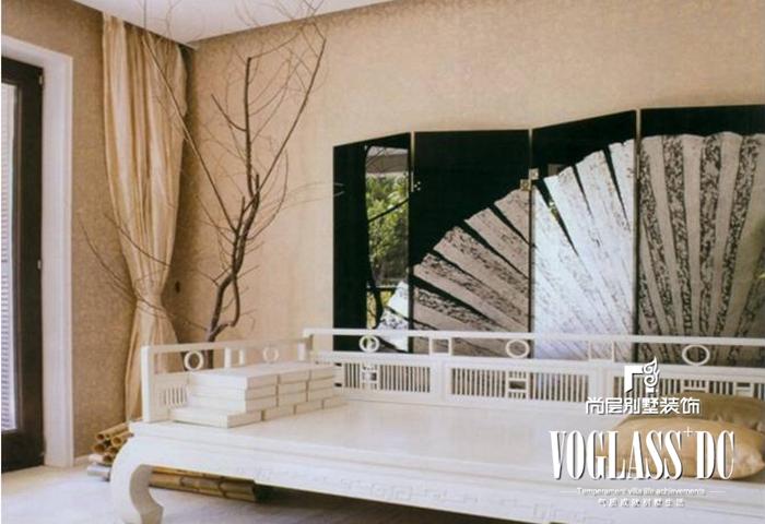 别墅 新中式 客厅 卧室 其他图片来自北京别墅装修案例在古典与现代的完美结合的分享