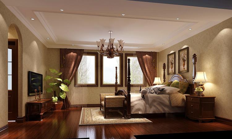 中海尚湖 高度国际 简约 欧式 别墅 三居 白领 80后 小资 卧室图片来自北京高度国际装饰设计在中海尚湖世家的分享