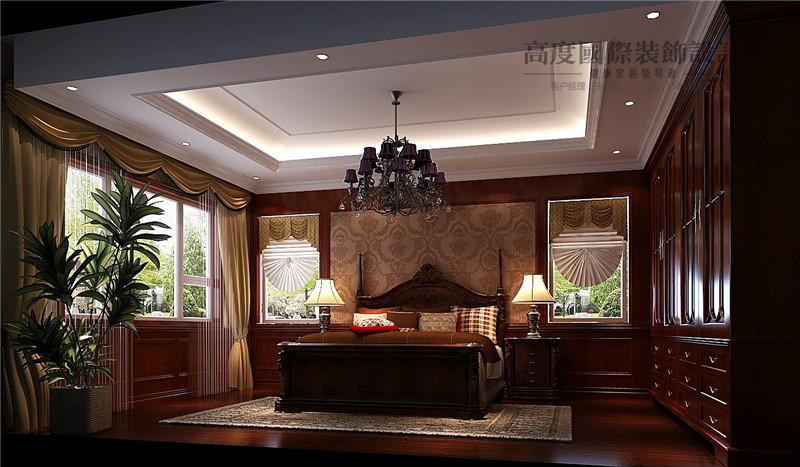 美式 美观 别墅漂亮 豪华档次 温馨舒适 卧室图片来自北京高度装饰设计王鹏程在500平米美式风格独栋别墅的分享