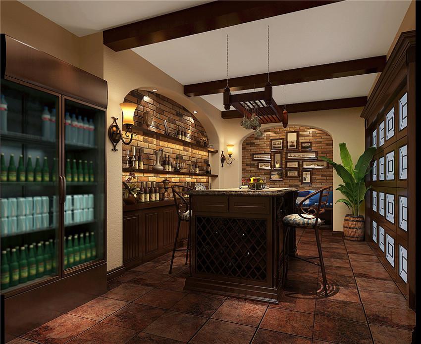 简欧 别墅 设计 装饰案例 酒柜 其他图片来自高度国际别墅装饰设计在远洋傲北室内装饰设计的分享