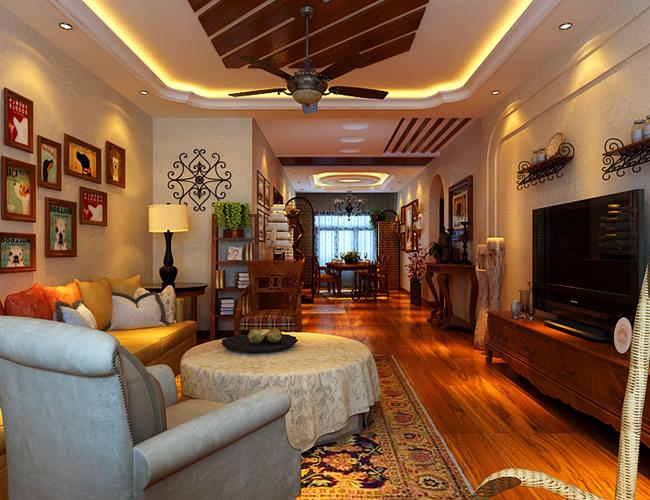 美式 二居 客厅图片来自北京世家装饰工程有限公司在盛和世纪美式的分享