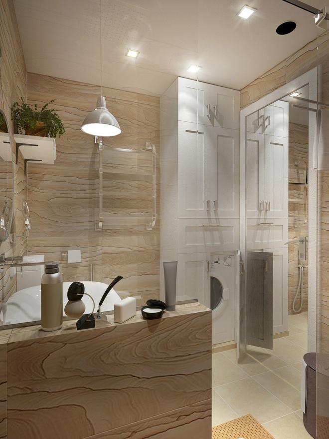 一居,北欧 收纳 小资 卫生间图片来自陈小迦在布局更协调,空间更舒适的小户型的分享