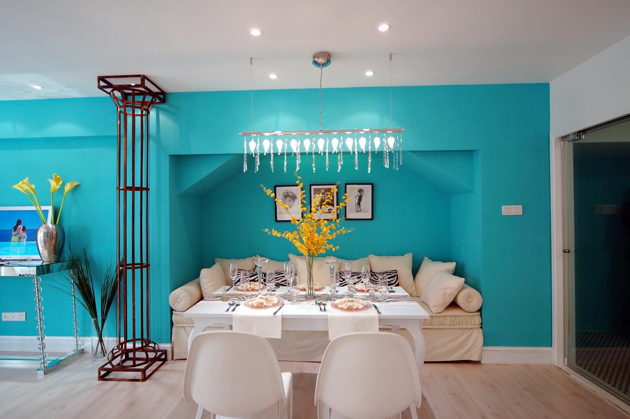武汉业之峰 地中海风格 装修环保 装修设计 别墅设计 欧式 装修施工 餐厅图片来自猫咪爱吃鱼在清凉之夏——我爱地中海的分享