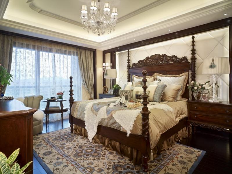 欧式 别墅 成都装修 成都装饰 跃层 卧室图片来自华西装饰集团在海昌天澜241m²欧式风格装饰的分享