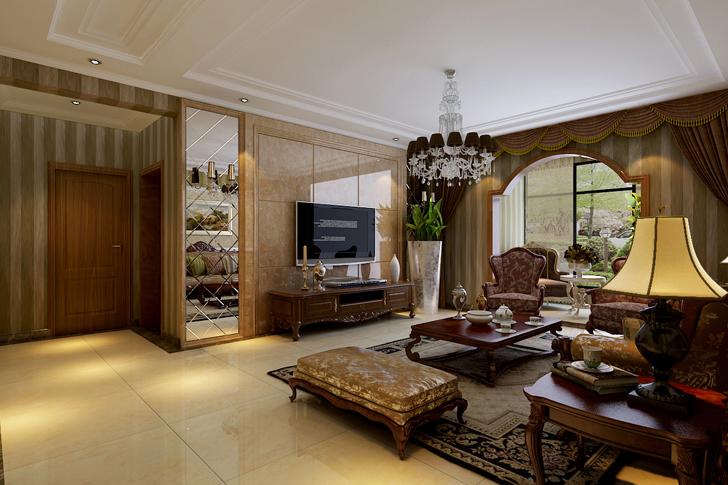 简约 欧式 三居 客厅图片来自业之峰太原分公司在贵.简欧的分享