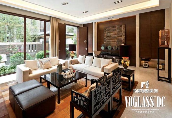别墅 新中式 白领 客厅 客厅图片来自北京别墅装修案例在不一样的新中式的分享