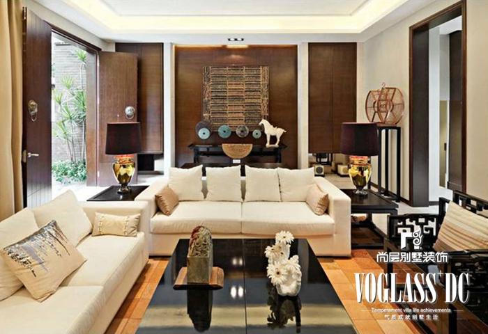 别墅 新中式 客厅 客厅图片来自北京别墅装修案例在不一样的新中式的分享