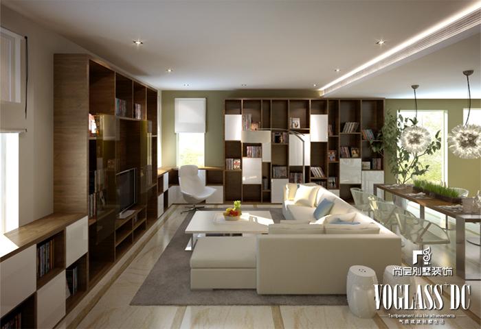 简约 别墅 现代 白领 客厅 客厅图片来自北京别墅装修案例在现代时尚的别墅生活的分享
