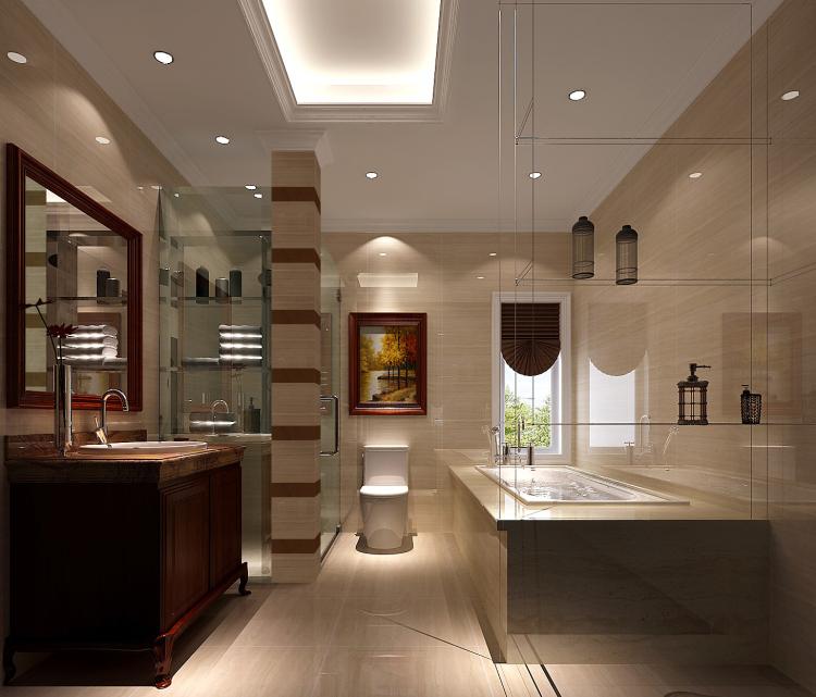 卫生间图片来自北京高度国际装饰设计在中铁花语城190平欧式公寓的分享