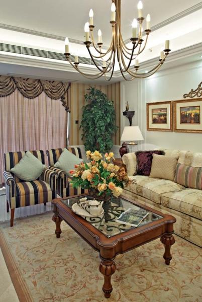 欧式 四居 成都装修 成都装饰 小资 客厅图片来自华西装饰集团在置信逸都147m²欧式风格鉴赏的分享