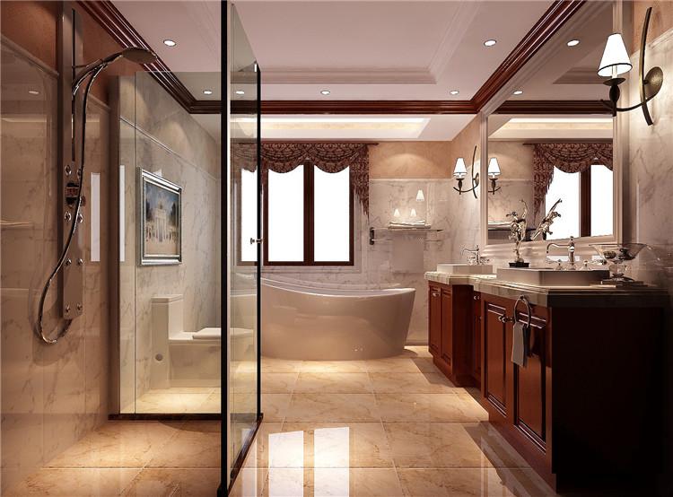 红杉溪谷 托斯卡纳 高度国际 欧式 别墅 三居 80后 小资 白领 卫生间图片来自北京高度国际装饰设计在红杉溪谷300平托斯卡纳别墅的分享