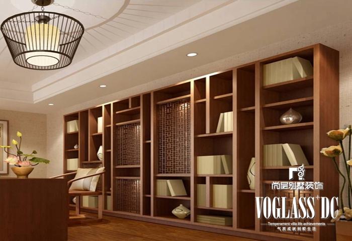 别墅 新中式 白领 书房 书房图片来自北京别墅装修案例在不一样的新中式的分享
