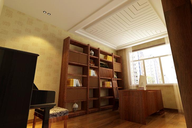简约 混搭 书房图片来自业之峰太原分公司在简约时尚的分享