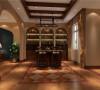 地下吧台,此户型采用休闲的托斯卡纳风格为主,因为业主主要是作为第二居所来使用,平时休息时前来居住,托斯卡纳风格赋予生命更多的浪漫、尊贵与享受,在这个生活节奏飞快的世界里享受惬意人生。