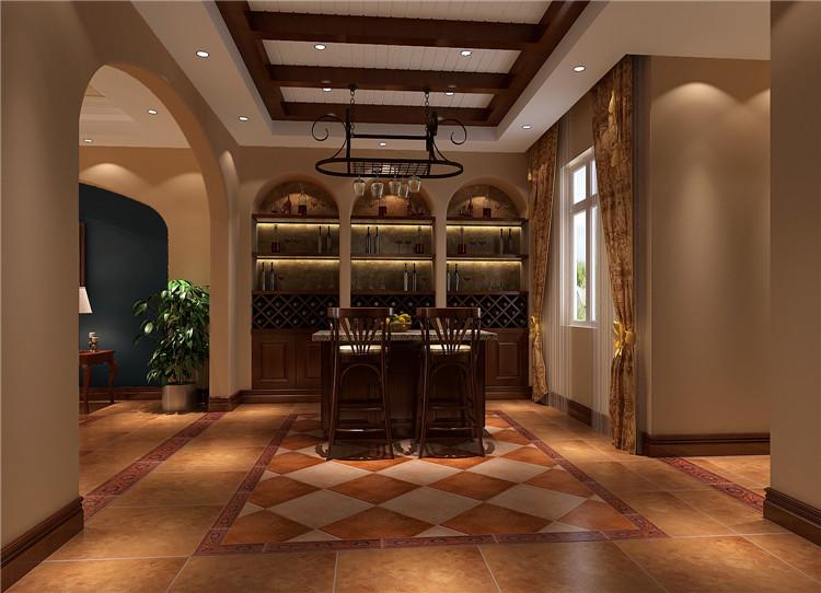 红杉溪谷 托斯卡纳 高度国际 欧式 别墅 白领 80后 小资 楼梯图片来自北京高度国际装饰设计在红杉溪谷的分享