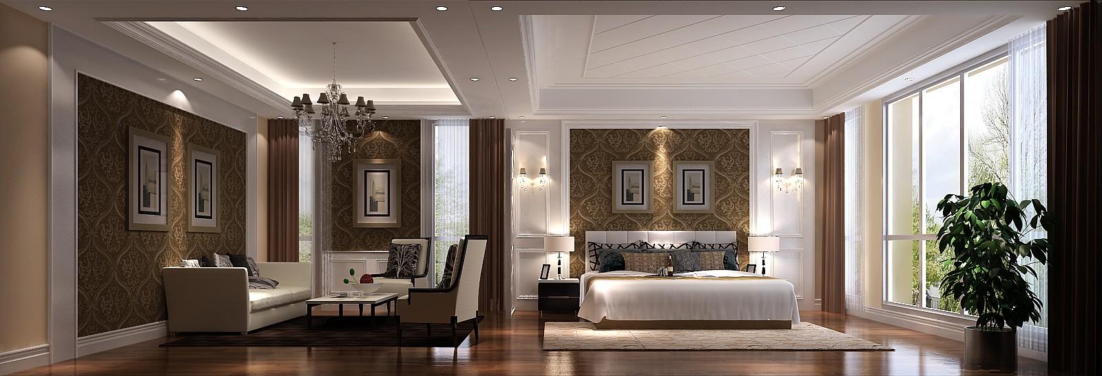 领秀新硅谷 高度国际 简约 欧式 别墅 白领 80后 小资 卧室图片来自北京高度国际装饰设计在领秀新硅谷380平简欧独栋别墅的分享