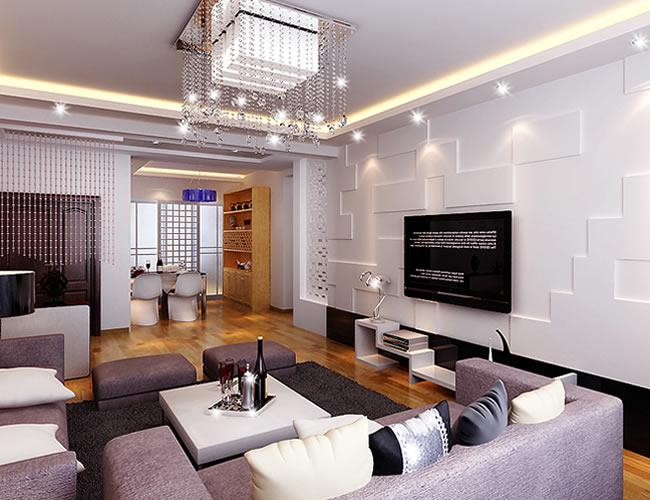 三居 简约 别墅 客厅图片来自北京世家装饰工程有限公司在现代简约的分享