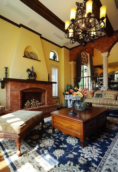 田园 别墅 成都装修 成都装饰 80后 客厅图片来自华西装饰集团在时光俊园165m²东南亚小跃层的分享