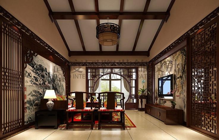 金色漫香苑 中式 140平米 三室一厅 高度国际 客厅图片来自高度国际装饰宋增会在中国传统 一品独特的分享