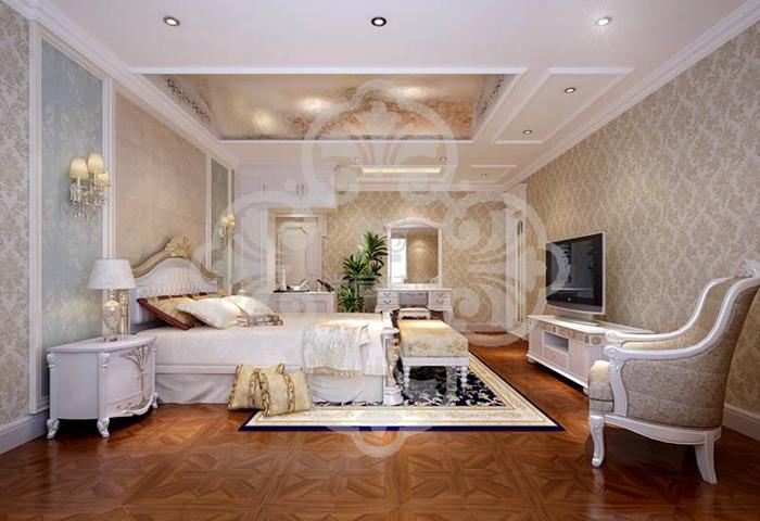 欧式 别墅 客厅 白领 卧室 餐厅 卧室图片来自北京别墅装修案例在诸子阶简欧风格优雅展示的分享