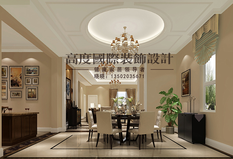 简欧 别墅 商业精英 餐厅图片来自大小姐在中惠团泊湾的分享