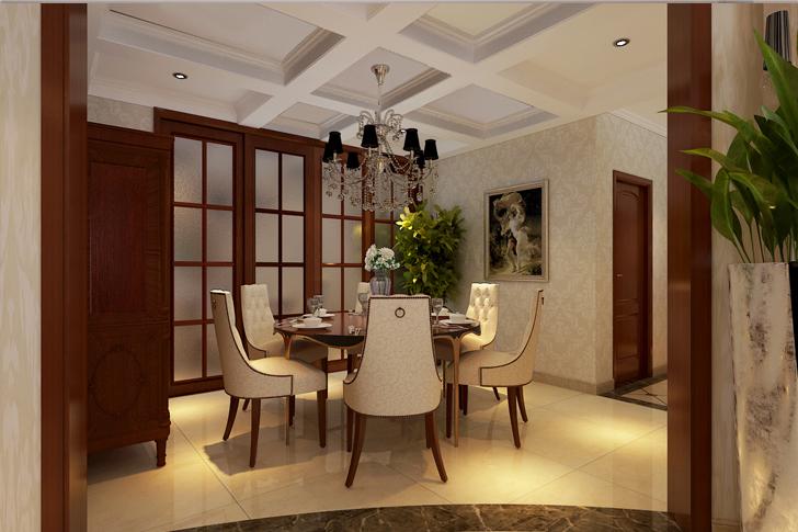 欧式 三居 白领 餐厅图片来自业之峰太原分公司在低调奢华欧式的分享