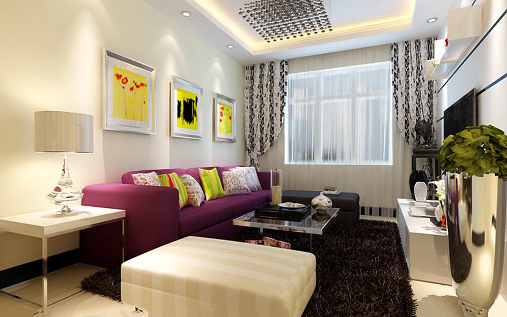 客厅图片来自实创装饰上海公司在一居室现代简约装修的分享