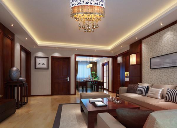 餐厅与客厅相连,顶面的装饰延续了客厅的造型,餐厅里花格门的运用恰到好处,让平白的空间气韵生动;细节不在多而在巧妙,便能以少胜多,起到画龙点睛的作用。业主喜欢东方禅意的韵味