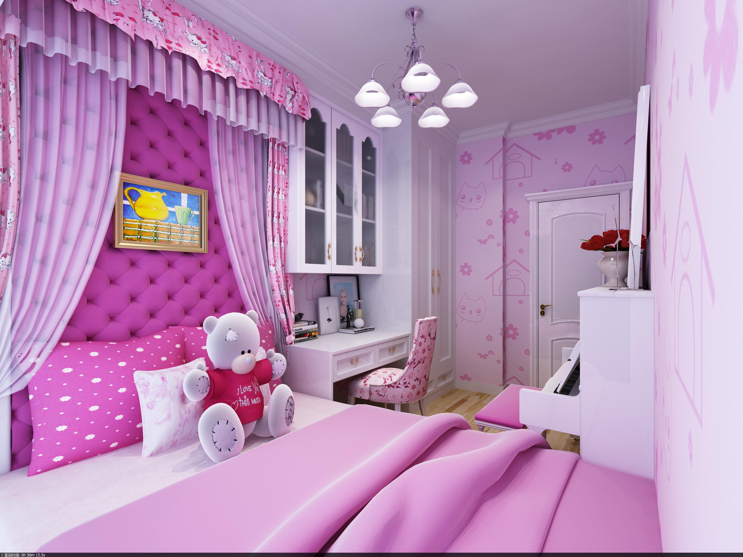 欧式 四居室 华府国际 自然元素 80后 收纳 儿童房 儿童房图片来自自然元素装饰马晓丹在华府国际12万轻松打造欧式风格的分享