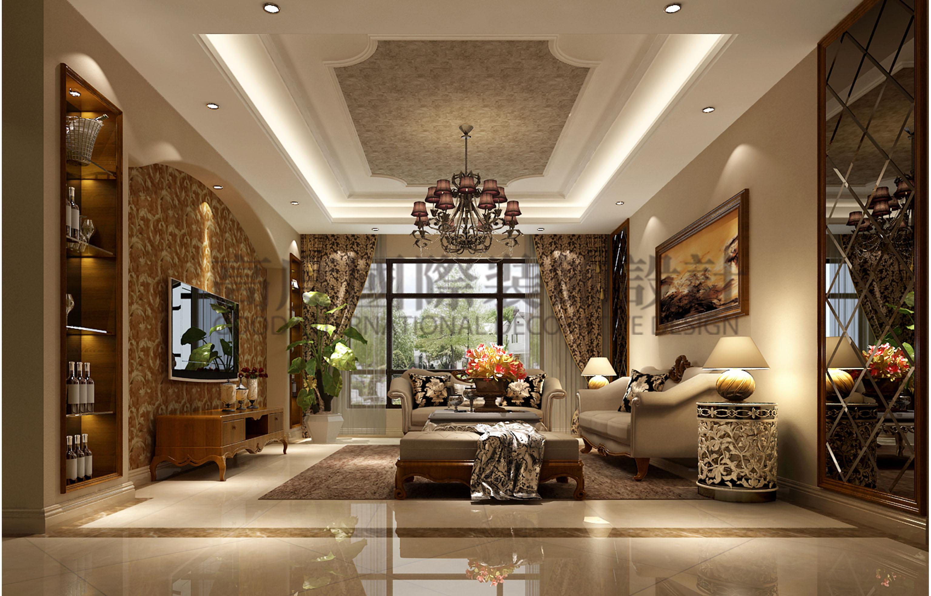 欧式 三居 小资 客厅图片来自大小姐在王府壹号欧式风格的分享