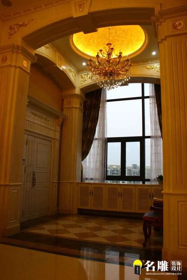 名雕装饰设计-宏发领域复式楼阁-简欧风格入户玄关