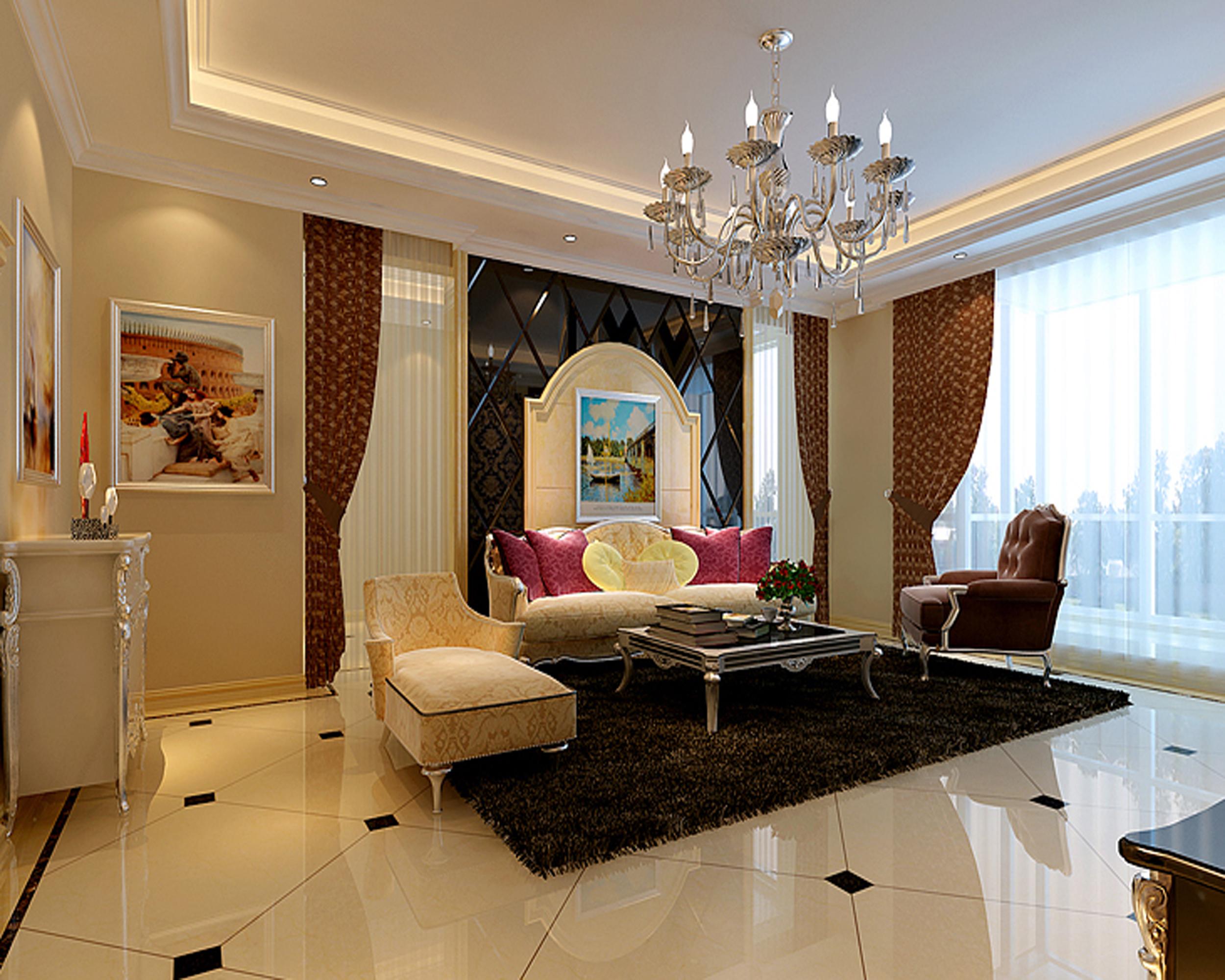 欧式 别墅 白领 收纳 80后 小资 客厅图片来自实创装饰百灵在观湖国际140平米欧式风格的分享