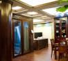 名雕装饰设计-鸿景翠峰二居室雅居-中式客厅-餐厅