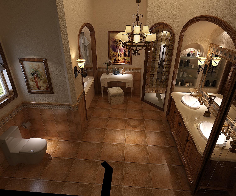卫生间图片来自专业别墅设计工作室在远洋傲北别墅装修设计案例的分享