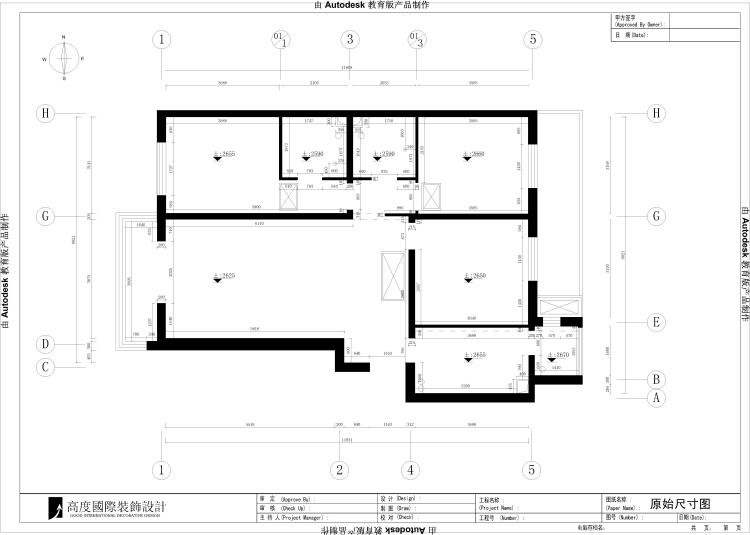 现代 三室两厅两 三居 80后 小资 户型图图片来自沙漠雪雨在中信城140㎡现代风格公寓的分享